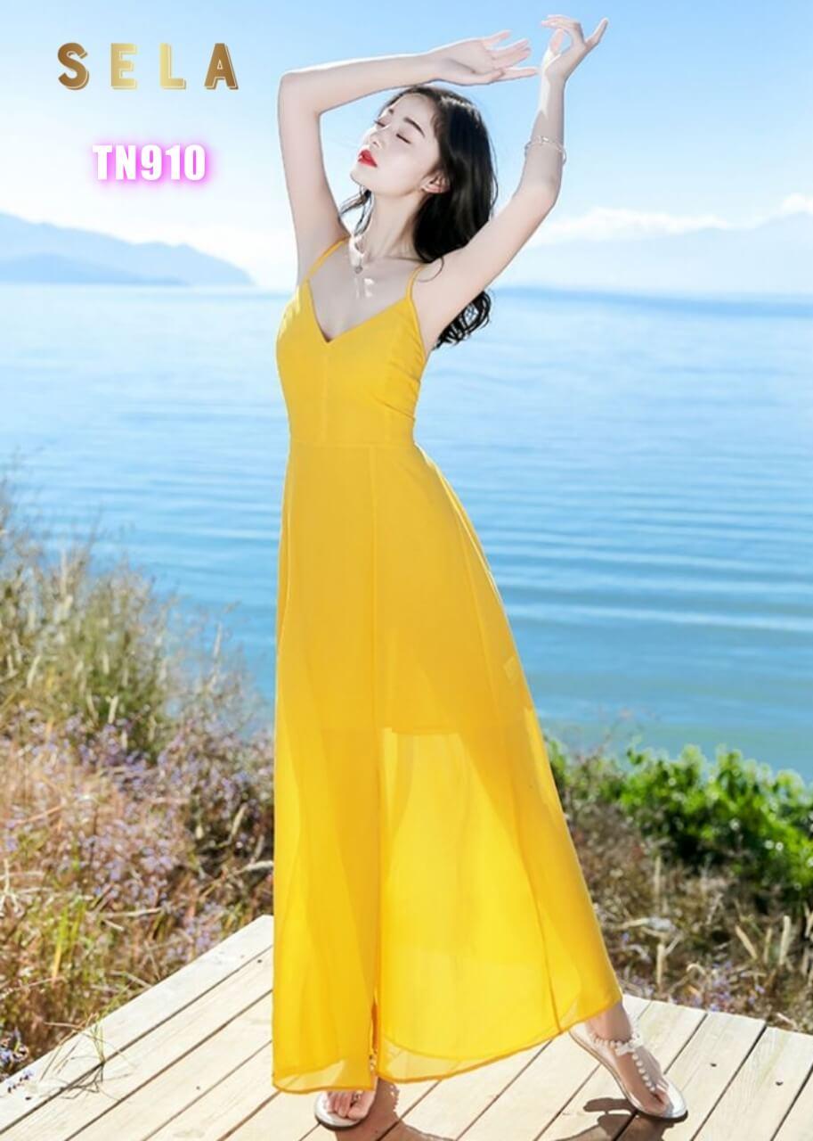 mẫu váy maxi dài