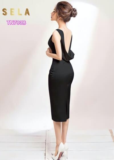 váy dự tiệc sang trọng màu đen