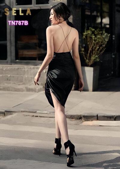 váy body đen dự tiệc